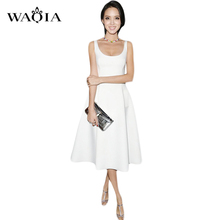 2016 summer style  European and American big star with pure black and white fashion OL temperament dress(China (Mainland))