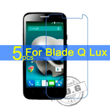 5pcs Gloss Ultra Clear LCD Screen Protector Film Cover For ZTE Blade Q Lux 4G A430 Protective Film + cloth Free Shipping