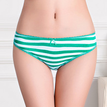 86802 Whoesale New 2015 Striped Women Cotton Underwear Free Shipping(China (Mainland))