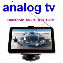 7 inch Car GPS Navigation + Analog TV + Bluetooth + AV-IN + FM + 4GB TF Card with free Map(China (Mainland))