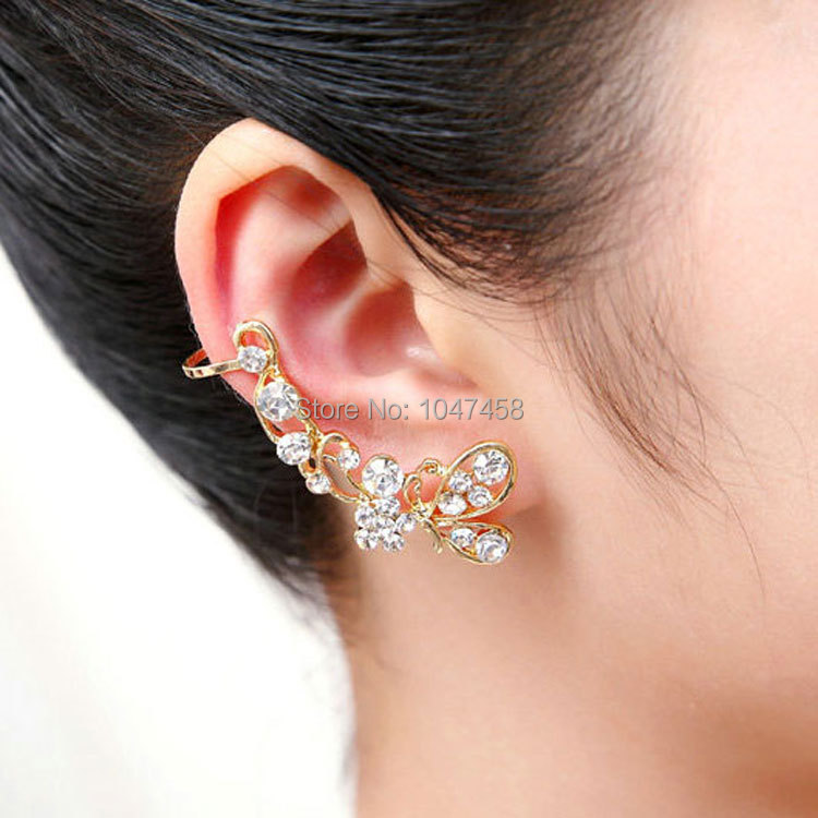 gold silver bohemian earring jackets for right ear