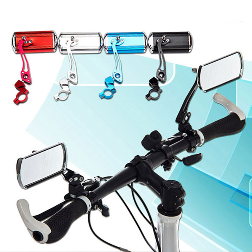 Bicycle Rearview Mirror for bike motorcycle cycling Accessories handlebar rectangle reflector bar ends rearview bicycle parts(China (Mainland))