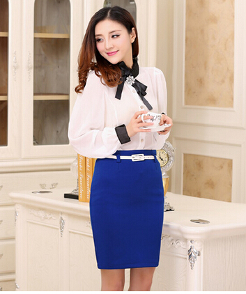 Fantastic 2015 Spring Summer Women Skirt Suits Work Wear Formal Blouse And Skirt