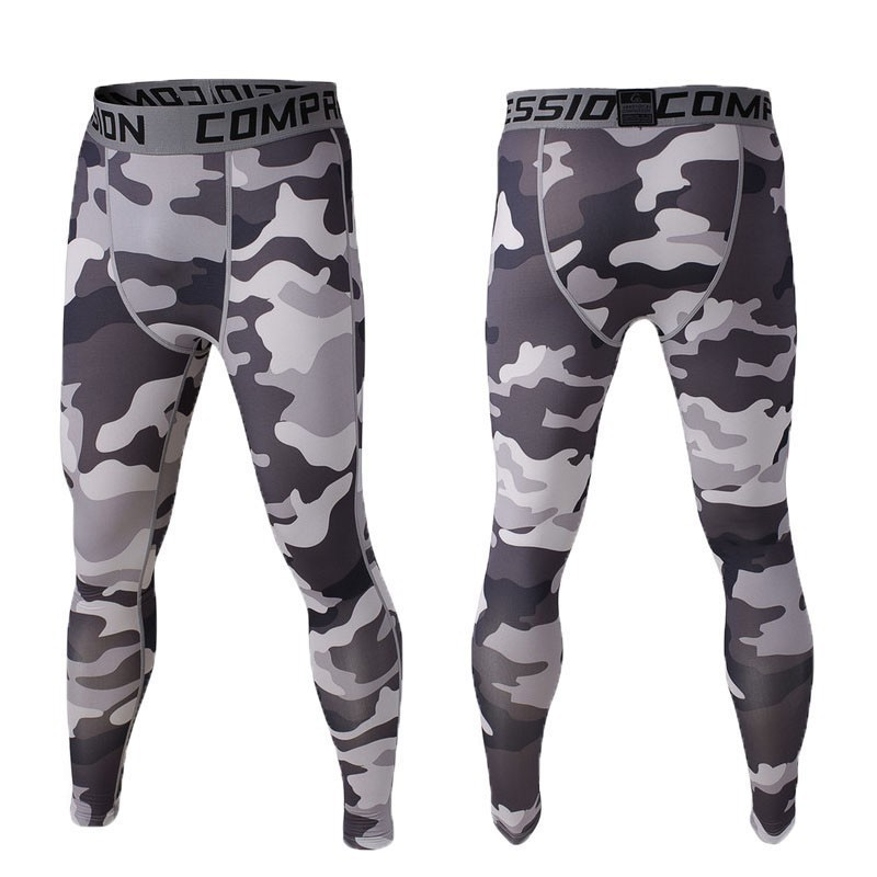Mens Running Camo Compression Брюки Leggings Base Layer Fitness Jogging Trousers Tights Sport Training Gym Wear Camo
