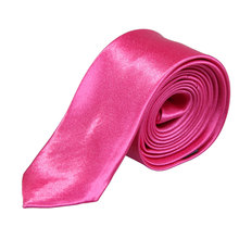 Exquisite Man Solid Color Polyester Silk Neck Tie Cravatta(China (Mainland))