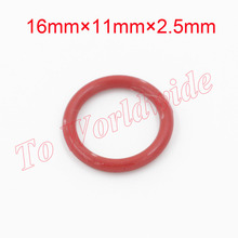 2.5mm Thickness 16mm x 11mm x 2.5mm Mechanical Silicon O Ring Oil Seal Gaskets(China (Mainland))