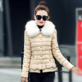 Latest Winter Fashion Women Down jacket Elegant Fur collars Single breasted Short Coat Long sleeve Slim