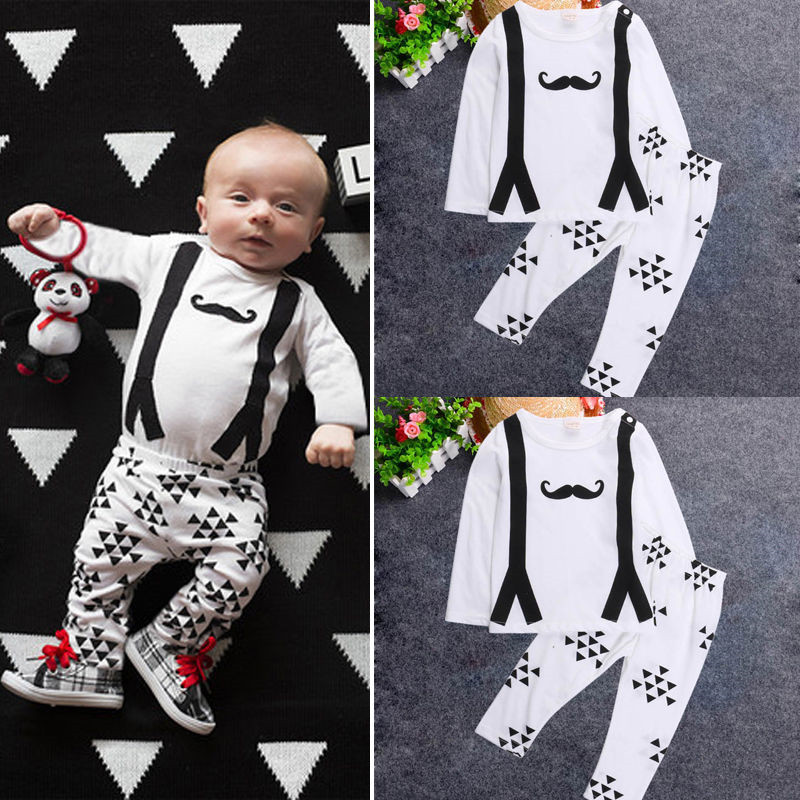 Clothes Baby Boy 0-2Y Cotton Newborn Baby Boy Clothes Infant Kids Summer T-shirt Tops+Pants 2Pcs Outfit Sets baby clothes boy(China (Mainland))