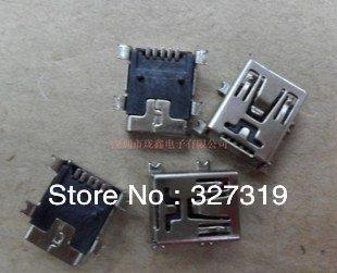 Freeshipping Retail+Wholesale 50pcs 5 pin Female Mini B usb SMD socket Connector