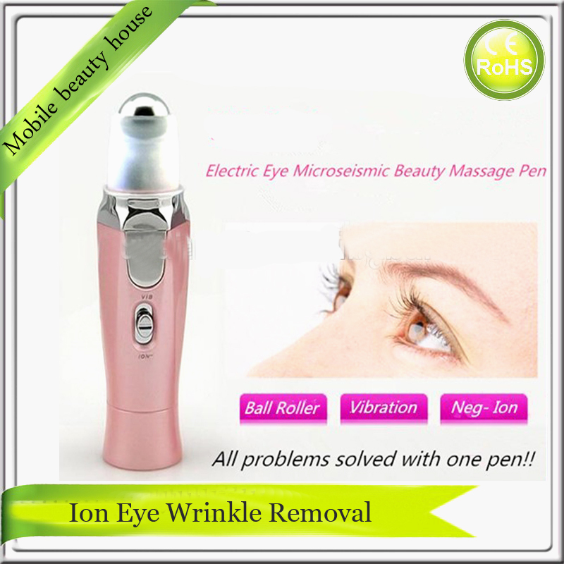 Mini Handheld Battery Operated Eye Beauty Care Massager With Negative Ion Conductor Therapy(China (Mainland))