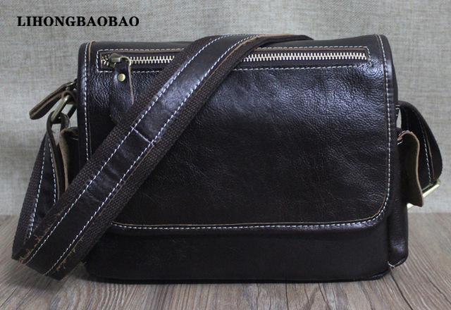 Promotion Shoulder Bags Men Genuine Leather Crossbody Bag Tablet PC Messenger Bag Travel Sling Bag Male Briefcase Husband Gifts(China (Mainland))