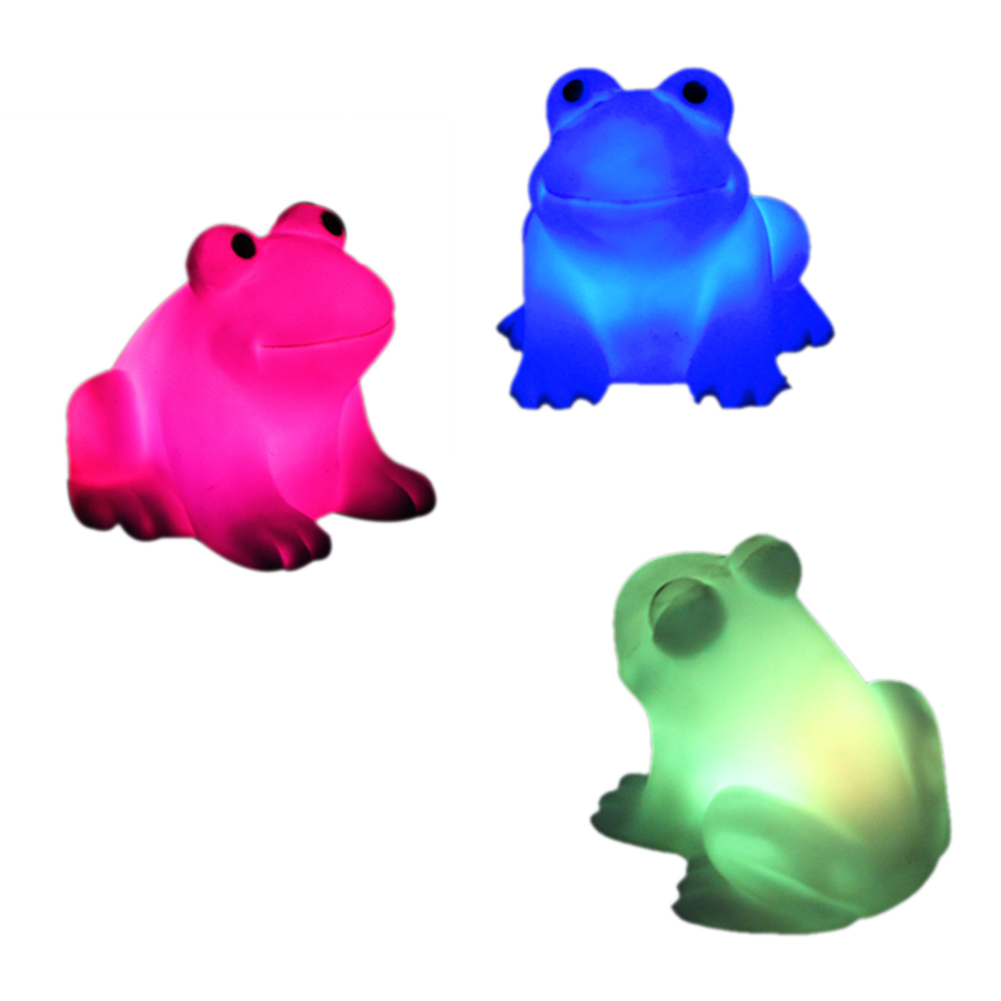 NEW Energy Magic LED Cute Frog Night Light Novelty Lamp Changing Colors Colorful CLH(China (Mainland))