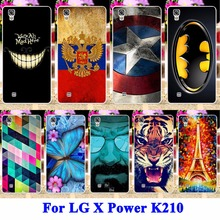Buy Hard PC Cell Phone Cases Covers LG X Power Shell K210 K220 K220DS XPower Hood Tiger Captain American Batman Painted Housing for $1.28 in AliExpress store