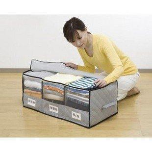 Storage Box Received Box Big Bamboo charcoal with Windows classification 3 case clothing finishing box Free shipping(China (Mainland))