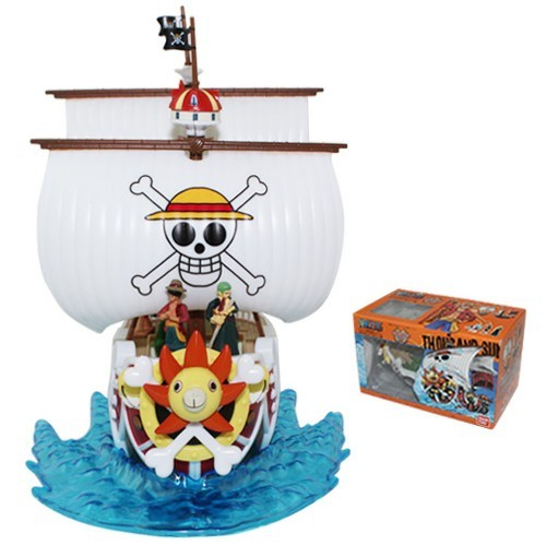 One Piece Mugiwara Pirates & Thousand Sunny Grand Ship #01 PVC Action Figure #01 Model set Kit toy