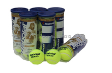 1Barrel Gold Tennis Balls Competition Tenis Balls Wool Tennis Balls French Open Designated Ball(China (Mainland))