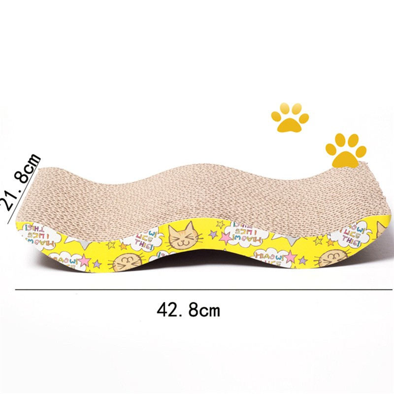 Corrugated Paper Cat Scratch Board Toy Mats Pot Grinding Claw Play Mat  Scratching Posts For Cats Pet Products Toys Accessories - us590