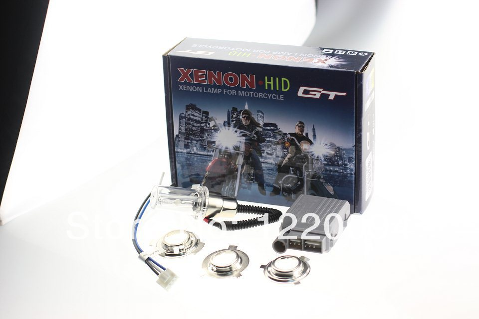 High intensity discharge Motor/Motorcycle Bike Hid Lights Kit H6 Hi/Low Xenon Bulbs 2600lm 12V 35W 6000K Freeshipping AAA(China (Mainland))