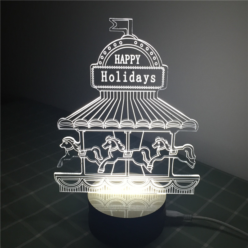 Unique Gift For Children Lamp 3d Visual Led Night Lights