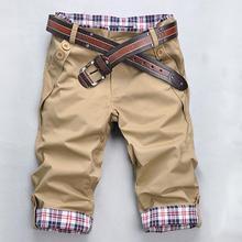 2015 New Summer Style Shorts hommes Shorts cinq pantalons à carreaux ourlet poche occasionnels pantalons courts pour homme pantalons de plage(China (Mainland))