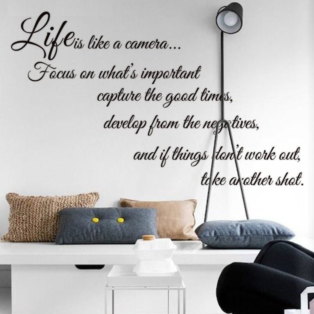 Bricolage amovible anglais proverbes vie est comme une - Phrase stickers muraux ...