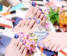 toe sticker new fashion DIY pedicure colorful beauty full cover nail wraps 3d nail art decoration