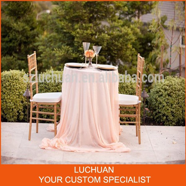 Modern Style Fancy Blush Color Round Table Linens Wholesale(China (Mainland))