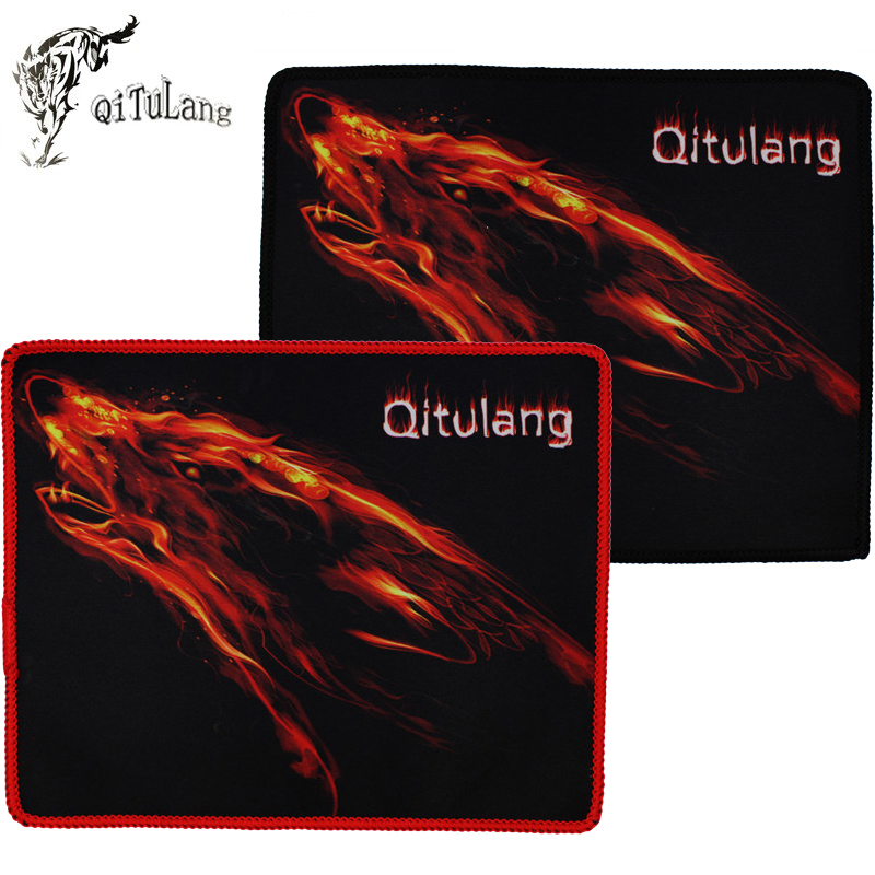 QiTuLang Mouse Pad Gaming Mouse Mat QiTuLang Logo Style 210 250 Size LOL DOTA Competitive Game Players Laptop Tablet PC
