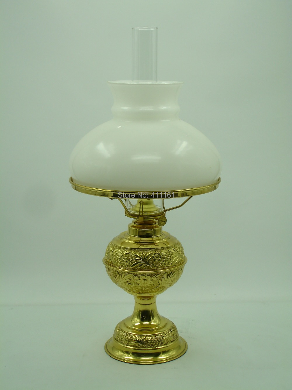 Deluxe Brass Evening Lamp Antique brass oil lamp lighting lantern paraffin lamp collection #130(China (Mainland))