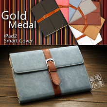 For Ipad Mini 1 2 3 Korean Brief Artificial Leather Case with Stand & buckle Soft PU Cover Bags For Apple ipad mini 1 2 3