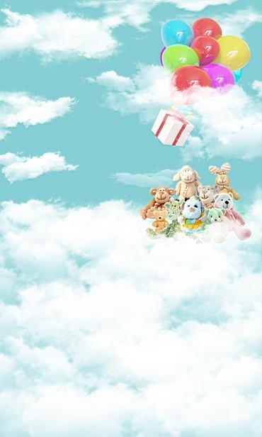 Фотография New arrival Background fundo Balloon clouds of heaven 600CM*300CM width backgrounds LK 2274