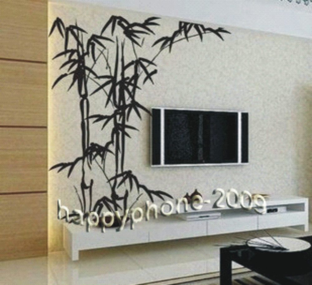 Stickers Big Picture More Detailed Picture About Free Shipping Chinese Bamboo Mural Home Decor