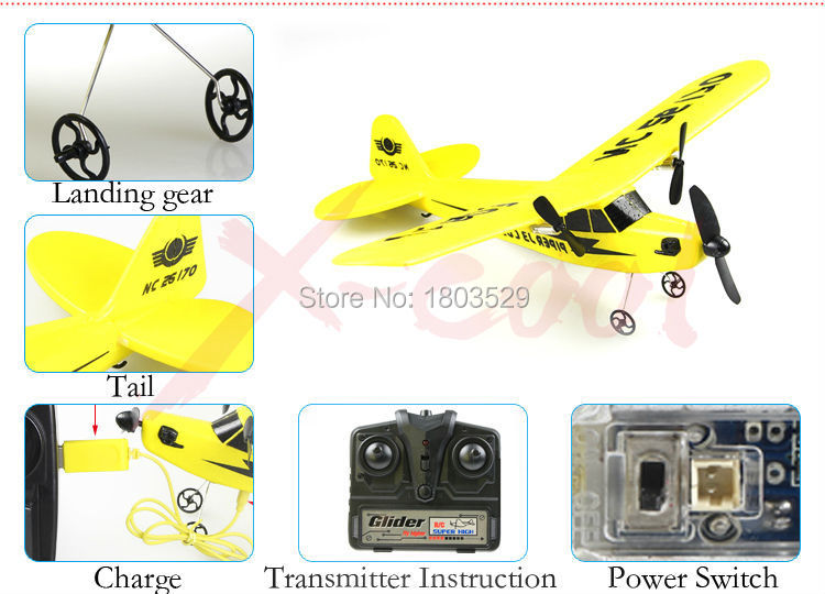 Free Shipping airplane HL803 2.4Ghz Fixed-wing EPP Foam Remote control Glider RC Drones model Planes Toys gift for children(China (Mainland))
