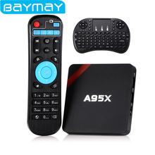 BAYMAY A95X Android TV Box Amlogic S905X Quad core 1GB/ 2GB RAM+8GB/16GB ROM 64 Bit 4K 2.4GHz WiFi Media Player TV Box PK X96(China (Mainland))