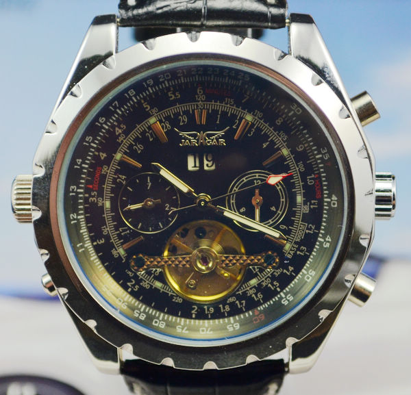 Jargar tourbillon large dial fully automatic mechanical watch male mens watch j258