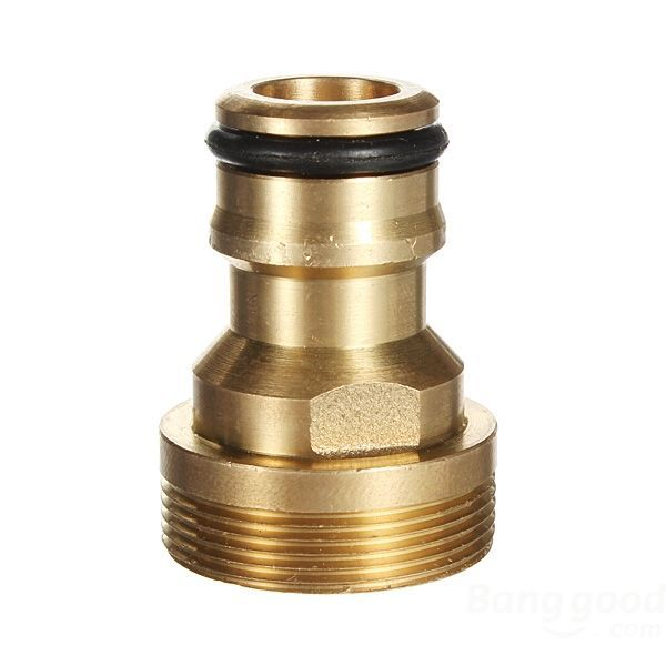 FunSolo Threaded Hose Outside Tap Water Connector Adapter Brass Fitting(China (Mainland))