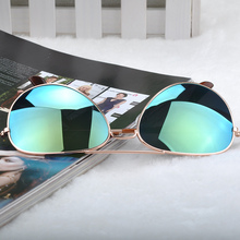 Goggle Aviator Sunglasses Classic Vintage Sun Glasses Metal Frame Eyeglasses Eyewear Bat Mirror UV Protection Multi