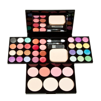 Eyeshadow Lip Gloss Foundation Powder Blusher Puff Cosmetic Make Up Palette Tool Makeup Set