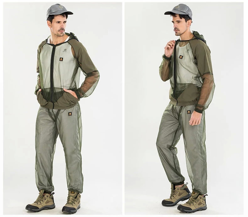 free shipping fishing outdoor clothing set Mosquito prevent suit,camping clothing set outdoor Mosquito prevent clothing suit(China (Mainland))