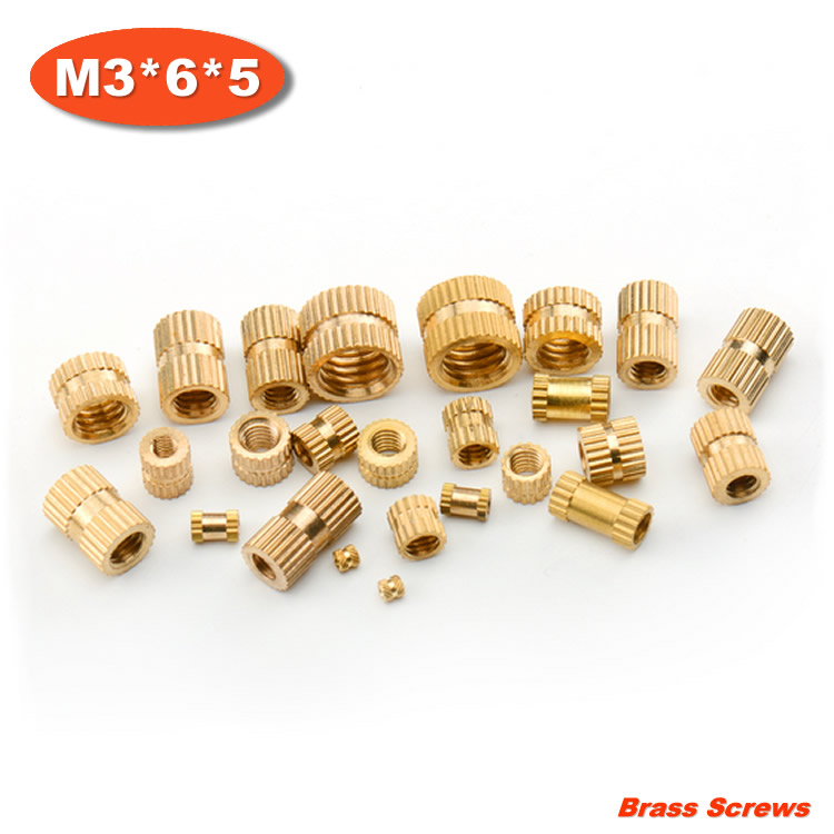 1000pcs/lot M3*6*5 Injection copper nut Copper inserts Knurled nut Copper flower mother<br><br>Aliexpress