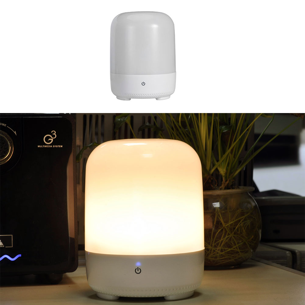 2016 New Smart RGB LED Night Light USB Rechargeable Desk Table ABS Hanger Hook Base Lamp(China (Mainland))