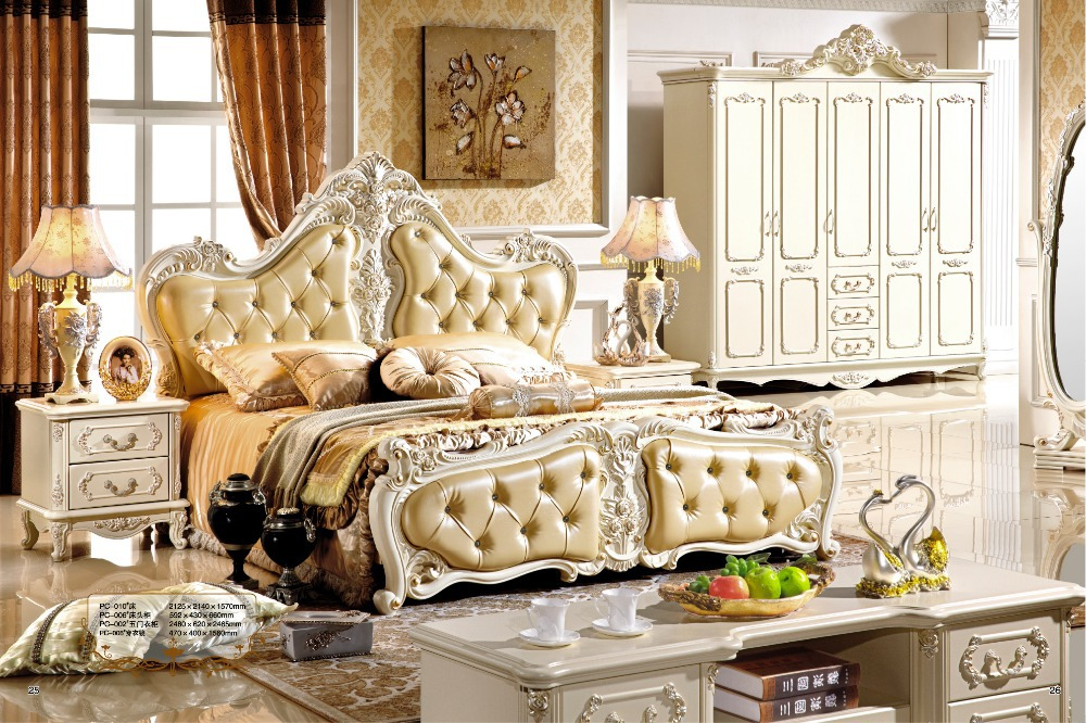 Antique style french furniture elegant bedroom sets pc for French style bedroom furniture