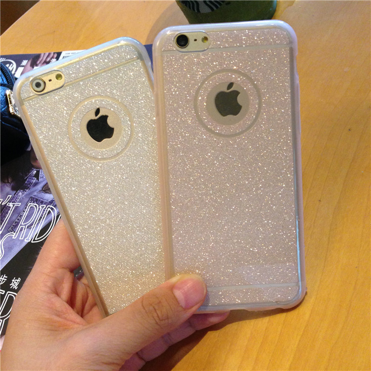 """Fashion Transparent glitter phone case For iPhone 6 case 4.7"""" Ultra thin soft TPU back cover For iphone 6s Plus 5.5"""" Bling case(China (Mainland))"""