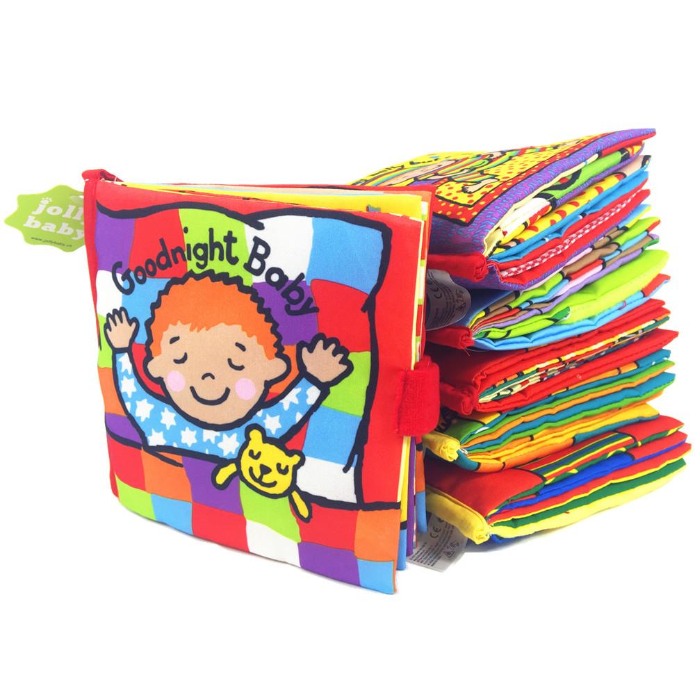Гаджет  6 Style Activity Book Cartoon Animal Soft Baby Educational Toy Cloth Book  Plush Animal Story Intelligence Developing Toy None Игрушки и Хобби