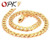 OPK JEWELLERY Gold plated Bracelet  Manual twist shape Link chain steel Gift For cool men FREE SHIPPING 441