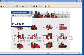 Linde Forklift Trucks Lidos 2014.02 version Spare parts for Linde forklift trucks