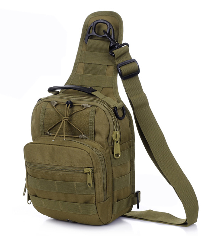 Military molle outdoor messenger cross body bags Tactical army triangle shoulder bag for men and women 1211 Free shipping(China (Mainland))