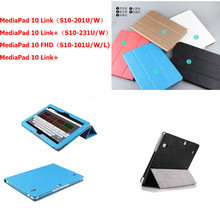 "Huawei Mediapad 10 FHD Link Link+ case,Smart 3 Foldable Stand PU Leather case for Huawei 10FHD10link 10Link+ 10.1""  Tablet PC"