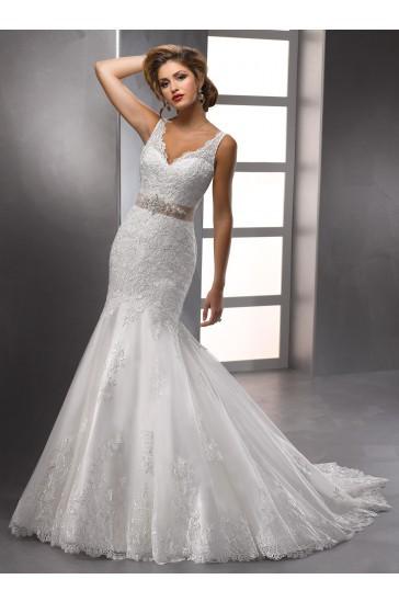 Buy 2016 custom made deep v neck for Open back bow wedding dress