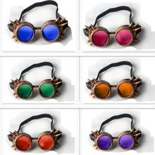 Gothic Steampunk Hot Unisex Cool New Men Women Welding Goggles Cosplay Antique Spikes Vintage Victorian Glasses Eyewear Cheap